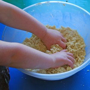 Exploring cooking textures and creative play